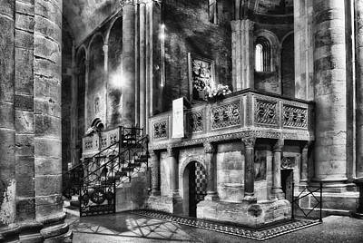 Photograph - San Michele Toward The Altar by Roberto Pagani
