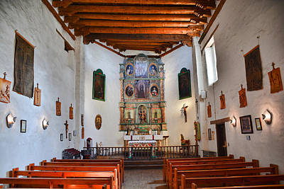 Photograph - San Miguel Chapel All Quiet by Robert Meyers-Lussier