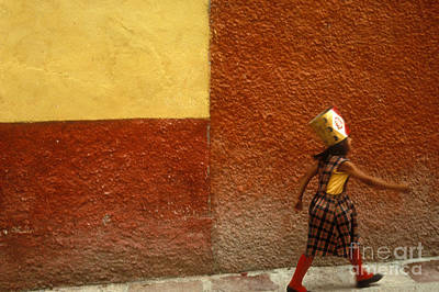 Photograph - San Miguel Girl San Miguel De Allende Mexico by John  Mitchell