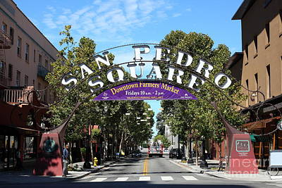 Photograph - San Pedro Square Gate San Jose California 5d25228 by Wingsdomain Art and Photography