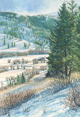 Painting - San Poil Valley  by Nick Payne