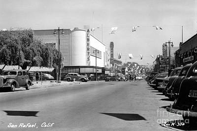 Photograph - 4th Street San Rafael California Circa 1948 by California Views Archives Mr Pat Hathaway Archives