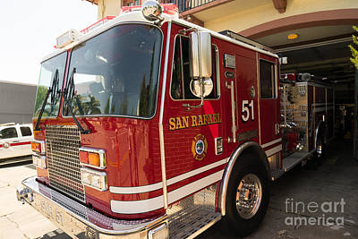 San Rafael California Fire Department Dsc1316 Art Print by Wingsdomain Art and Photography