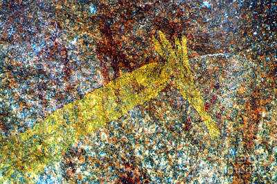 Photograph - San Rock Art - Close-up3 by Mareko Marciniak