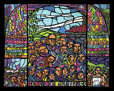 Liberation Mixed Media - San Romero De Las Americas by Ricardo Levins Morales