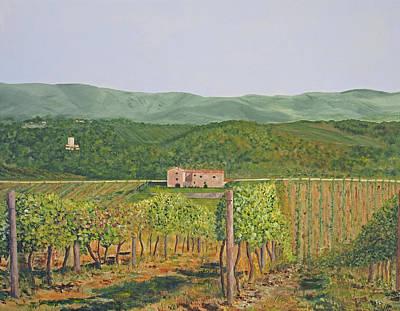 Winery Painting - San Sano Vineyard by Steven Fleit