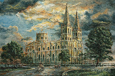 Painting - San Sebastian Church 1800s by Joey Agbayani