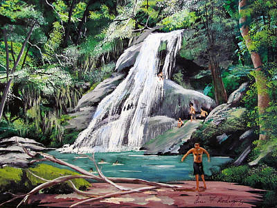 San Sebastian Waterfall Art Print