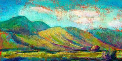 Mountian Painting - San Simeon by Athena Mantle Owen