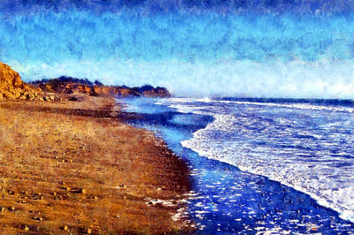 Digital Art - San Simeon Beach by Kaylee Mason