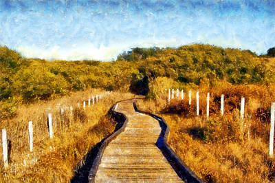 Digital Art - San Simeon Boardwalk by Kaylee Mason