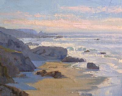 Painting - San Simeon Coast by Sharon Weaver