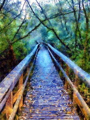 Digital Art - San Simeon Foot Bridge by Kaylee Mason