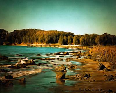 Simeon Painting - San Simeon Pier 2 by Barbara Snyder
