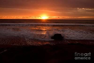 Photograph - San Simeon Stunning Sunest by Johanne Peale