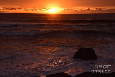 Photograph - San Simeon Sun Rays by Johanne Peale