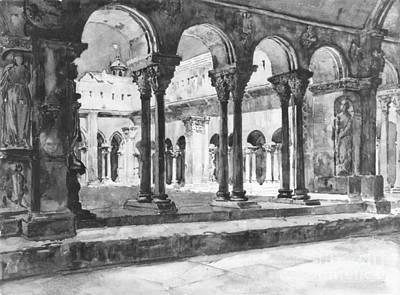 Caryatids Photograph - San Trophine Cloister Arles France 1888 by Padre Art