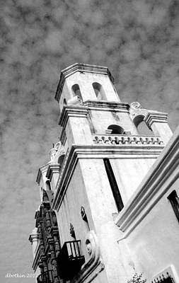 Photograph - San Xavier Bell Tower by Dick Botkin