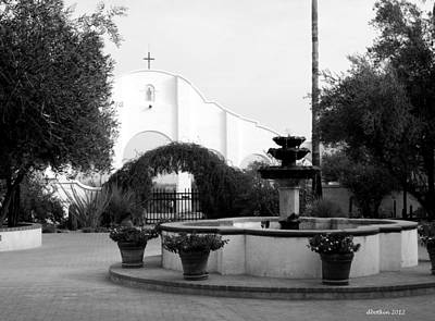 Photograph - San Xavier Courtyard by Dick Botkin