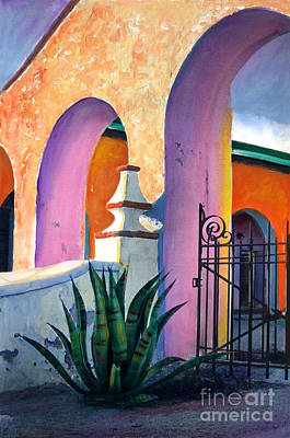 Painting - San Xavier Del Bac Archway by Cindy McIntyre