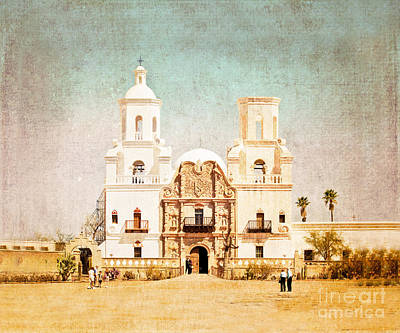 Art Print featuring the photograph San Xavier Del Bac Mission by Marianne Jensen
