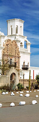 Spanish Mission Photograph - San Xavier Del Bac Tucson Az by Panoramic Images