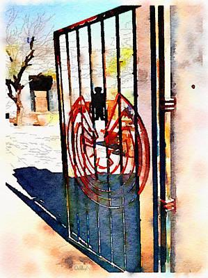 San Xavier Digital Art - San Xavier Gate by Rick Lloyd