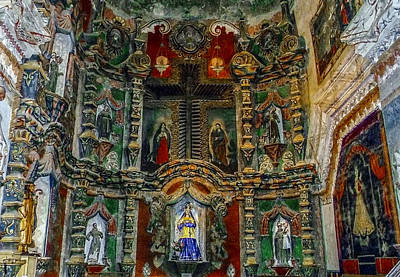 Christmas Christopher And Amanda Elwell - San Xavier Mission by Elaine Malott