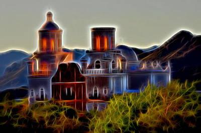 San Xavier Digital Art - San Xavier Mission by Michael Biggs