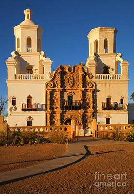 San Xavier Mission Art Print by Mike  Dawson