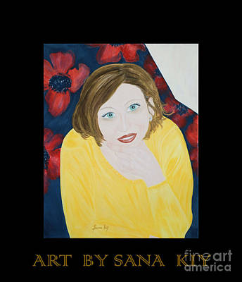 Painting - Sana. Inspirations Collection. by Oksana Semenchenko