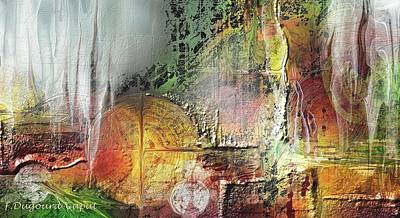 Abstract Digital Painting - Sanandrea by Francoise Dugourd-Caput
