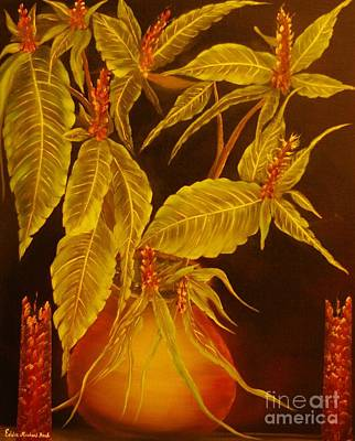 Sanchezia Atmosphere-original Sold-buy Giclee Print Nr 30 Of Limited Edition Of 40 Prints  Art Print