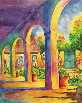 Southwest Gate Painting - Sanctuary by Michael Bulloch