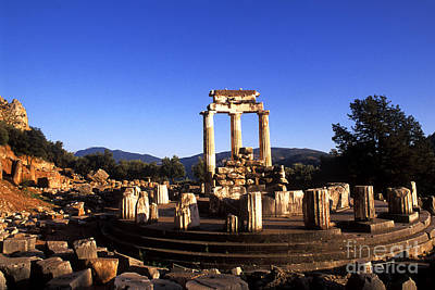 Sanctuary Of Athena At Delphi Print by Bill Bachmann