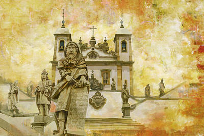 Os Painting - Sanctuary Of Bom Jesus Do Congonhas  by Catf