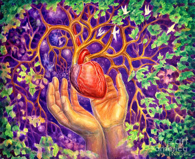 Visionary Art Painting - Sanctuary by Tatiana Kiselyova