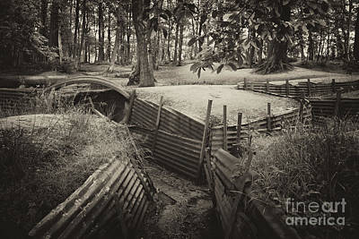 Ypres Photograph - Sanctuary Woods  by Rob Hawkins