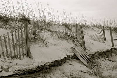Photograph - Sand And Fences by Sue McGlothlin