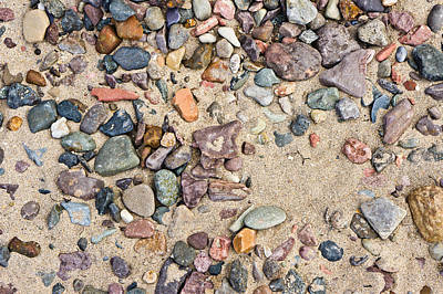 Abtract Photograph - Sand And Pebbles by Tom Gowanlock