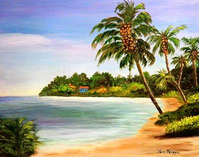 Guava Tree Painting - Sand And Sea by Janis  Tafoya