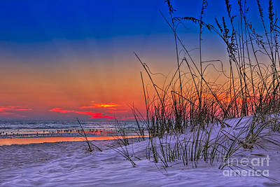 Sand And Sea Print by Marvin Spates