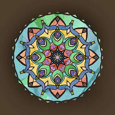 Digital Art - Sand And Silk Mandala by Deborah Smith