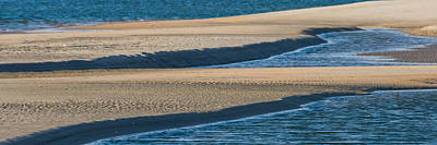 Photograph - Sand And Water Textures Abstract by Ed Gleichman