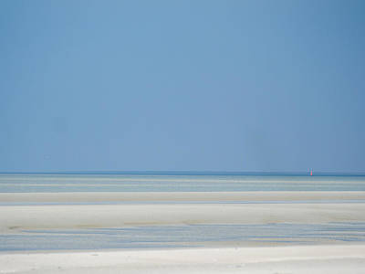 Photograph - Sand Bars And Navigation Mark by Martin Liebermann