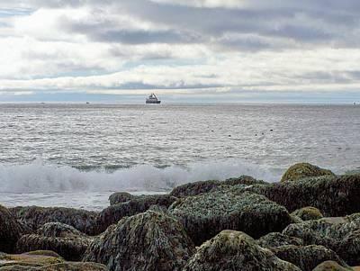Photograph - Sand Beach Acadia by Gene Cyr