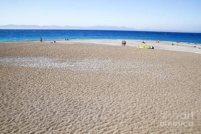 State Love Nancy Ingersoll - Sand beach in Rhodes by Sasas Photography