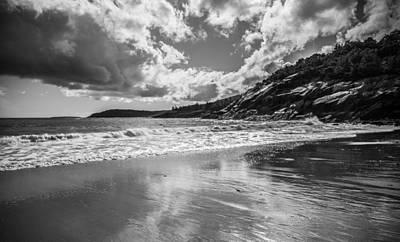 Sand Beach Reflects Art Print by Kristopher Schoenleber