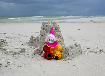 Sand Castle Jester Art Print by William Patrick