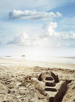 Sand Castle Art Print by Les Cunliffe